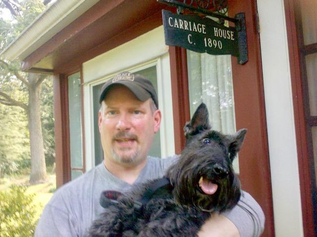 Man_Holding_Dog_Friendly_Carriage_House_New_Hope__Wedgwood_Inn_Pets